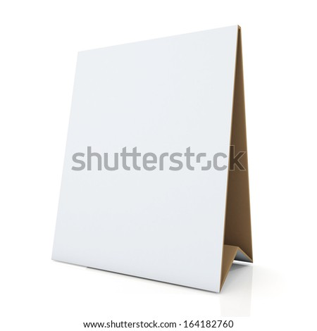 3d clean white and original brown papers carton desk display in isolated background with work paths, clipping paths included  - stock photo