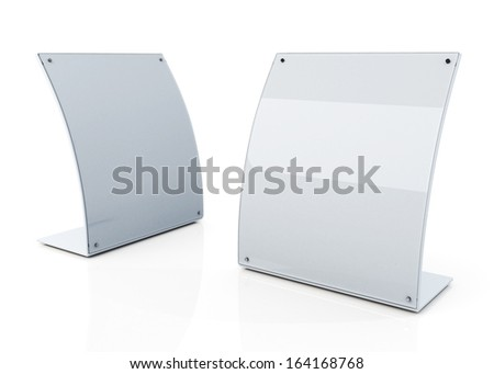 3d clean white and transparent PVC advertising billboard stand in isolated background with work paths, clipping paths included  - stock photo