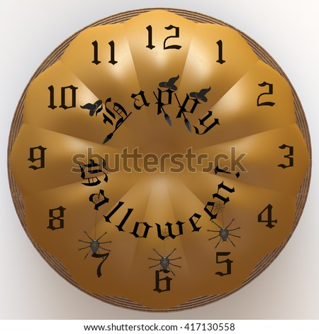 Halloween Clock Stock Vector Cuckoo Clock With Ghost
