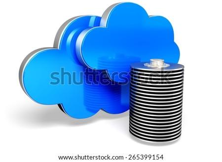 3D. Cloud, Cloudscape, Network Server. - stock photo