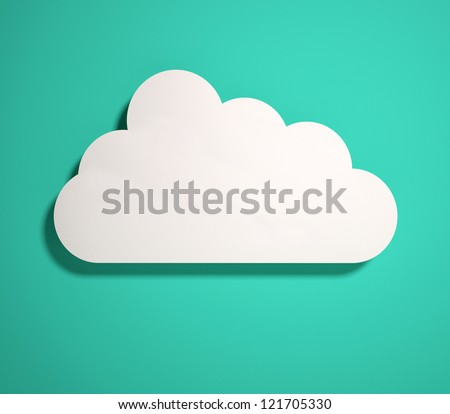 3d cloud icon. 3d render - stock photo