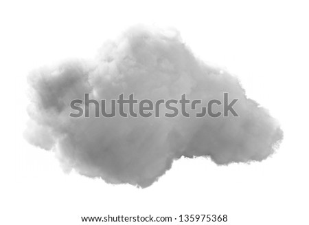 3D Cloud - isolated over a white background - stock photo