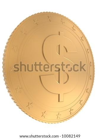 3d coin - stock photo