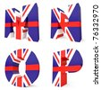3d collection of UK letters - M N O P - stock photo