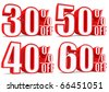 3d collection word sale 30 40 50 60 percent - stock photo