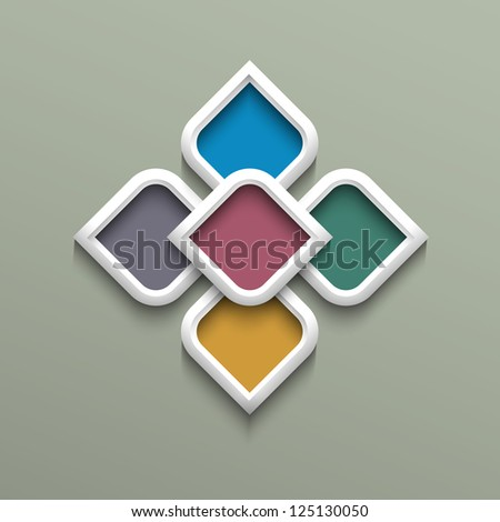 3d color pattern in arabic style. Raster version - stock photo
