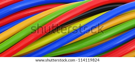 3D colorful cables...