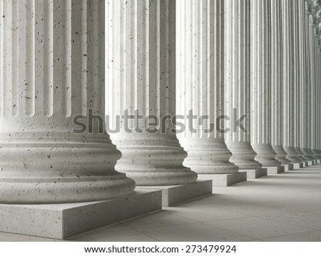 3D. Column, Law, Government.