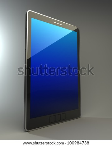 3D computer, digital Tablet pc,  High resolution - stock photo