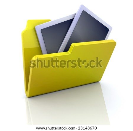 3D computer icon for my pictures