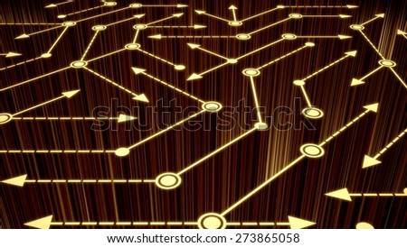 3D. Computer Network, Communication, Connection. - stock photo