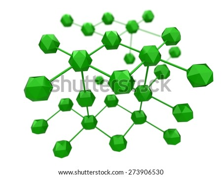 3D. Computer Network, Connection, Communication. - stock photo