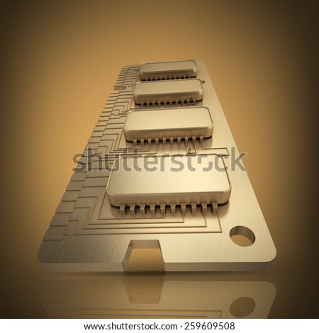 3d Computer RAM Memory Card 256gb High resolution  - stock photo