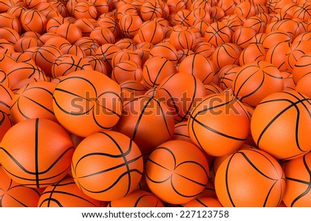 3D computer rendered illustration the Different Basketballs  - stock photo