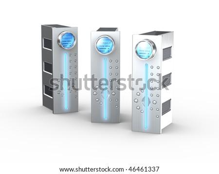 3d computer servers - stock photo