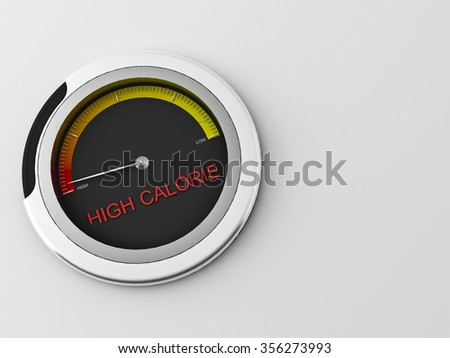 3d concept of a  indicator