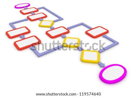 3d concept of computer algorithm. - stock photo