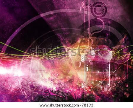 3D Conceptual Illustration Eleven - stock photo