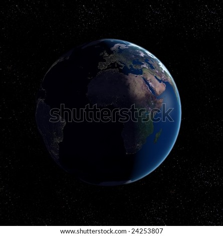 3D Conceptual Image - Earth