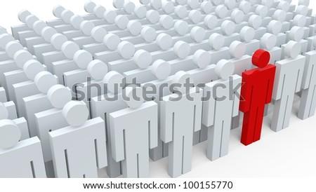 3d conceptual image of teamwork. - stock photo