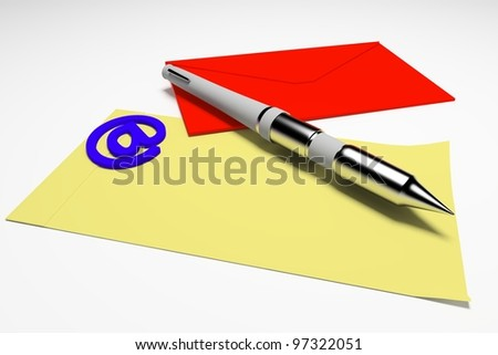 3d contact form - stock photo