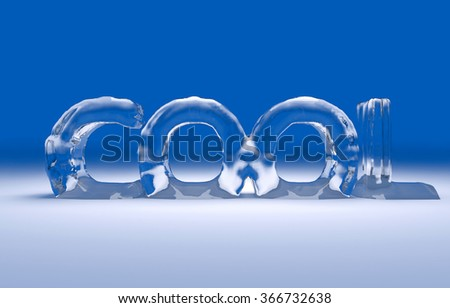 3D cool text on a winter background - stock photo