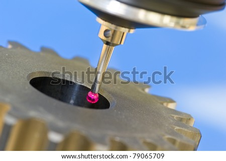 3-D-coordinate-measuring - stock photo