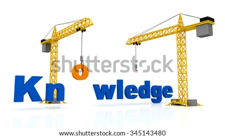 3D Crane Building the Knowledge 3D word