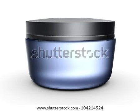 3d cream box over white background - stock photo