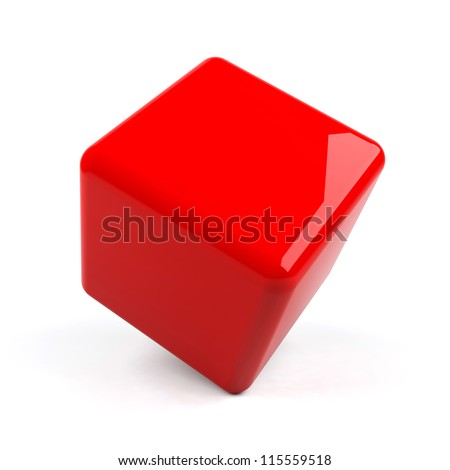 3d cube isolated.