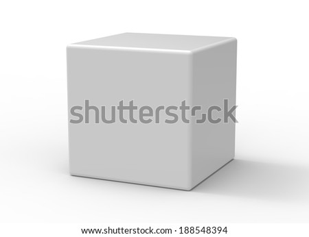 3d cube on white background - stock photo