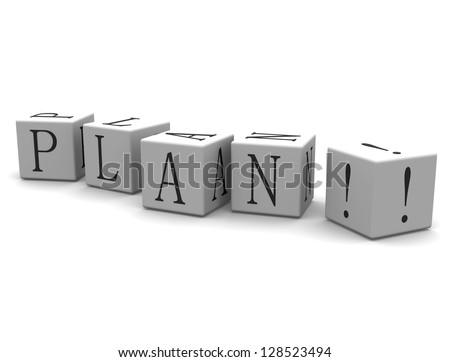 3D cube: word Plan - stock photo