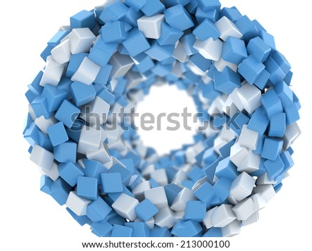 3d cubes isolated on white background