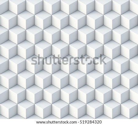 3d cubes seamless pattern ornament- 3d rendering background