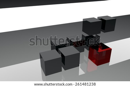 3d cubes structure abstract background - stock photo