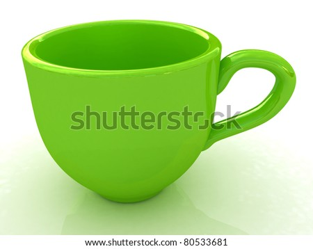 3d cup isolated on a white background