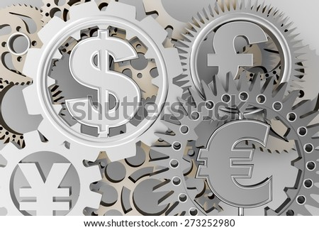 3D. Currency, Finance, Global Business. - stock photo