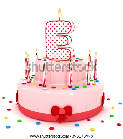 "3d cute letter ""E"" rendering colorful birthday cake alphabet with sweet candle and decorate ribbon  isolated over white background"