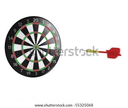 3D darts flight - stock photo