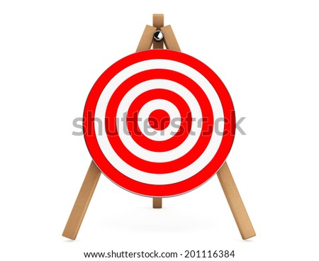 3d Darts Target on a white background - stock photo