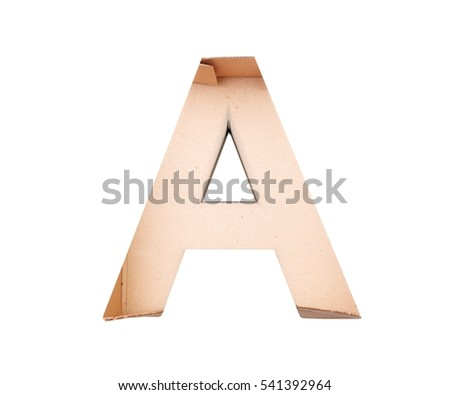 Copper Letter Isolated White Background Stock Illustration