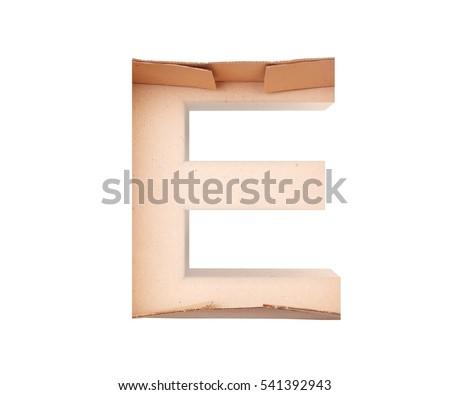 Cardboard font stock images royalty free images vectors for Alphabet letters cardboard