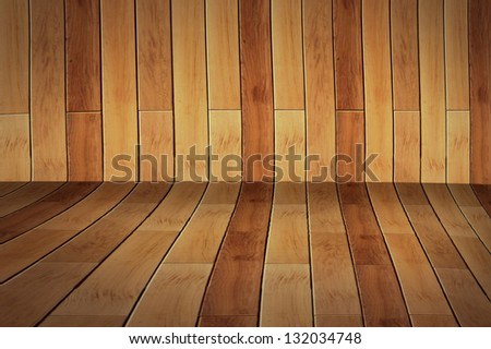 3D dement background empty surface - stage brick paving - stock photo