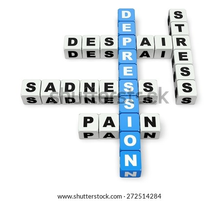 3D. Depression, Recovery, Anxiety. - stock photo