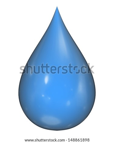 3D detailed illustration of a drop of water