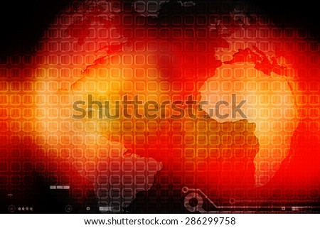 2D Digital Abstract global Networking  - stock photo