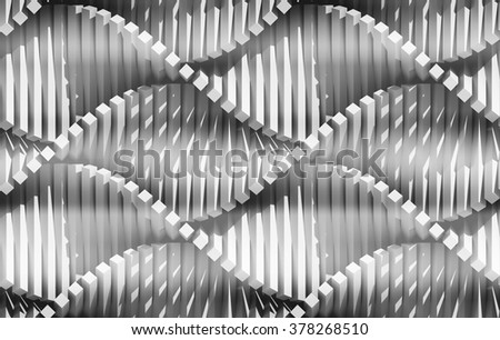 3d digital composition. Turning geometrical elements. Abstract regular background.
