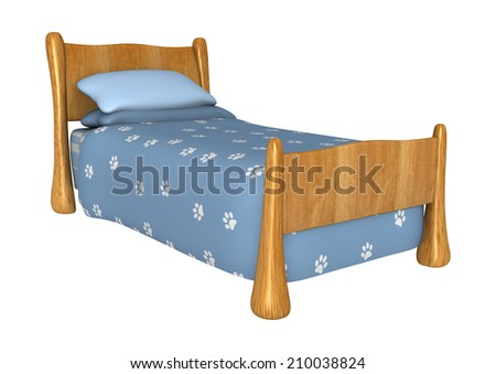 3D digital render of a cute childs bed isolated on white background