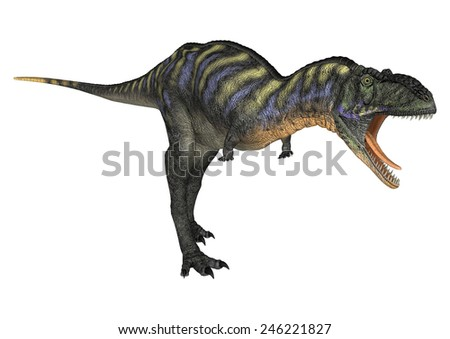 3D digital render of a dinosaur Aucasaurus isolated on white background