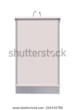 3D digital render of a lectern isolated on white background - stock photo